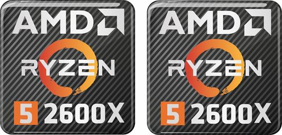 Picture of AMD Ryzen 5 2600X Gel Badges