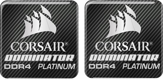 Picture of Corsair Dominator DDR4 Platinum Gel Badges