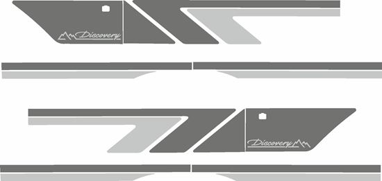 Picture of Discovery series 1 replacement side Stripes / Stickers