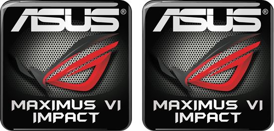 Picture of Asus Maximus VI Impact Gel Badges