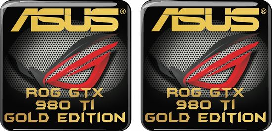 Picture of Asus Rog GTX 980 TI Gold Edition Gel Badges