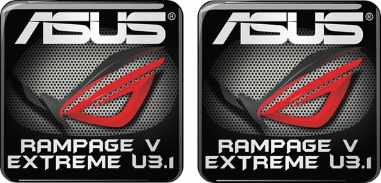 Picture of Asus Rampage V Extreme U3.1 Gel Badges