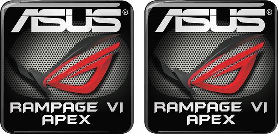 Picture of Asus Rampage VI Apex Gel Badges