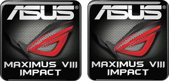 Picture of Asus Maximus VIII Impact Gel Badges