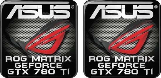 Picture of Asus Rog Matrix Geforce GTX 780 TI Gel Badges