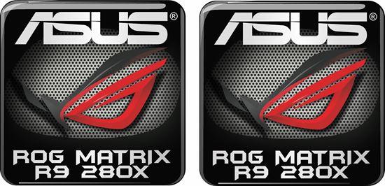 Picture of Asus Rog Matrix R9 280X Gel Badges