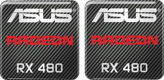 Picture of Asus Radeon RRX 480 Gel Badges