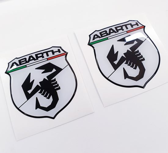 Picture of Fiat  500 / 595 front & rear OE Badge Domed Gel overlays
