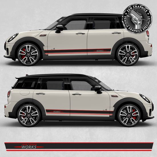 Picture of Mini Clubamn JCW F54 side Stripes