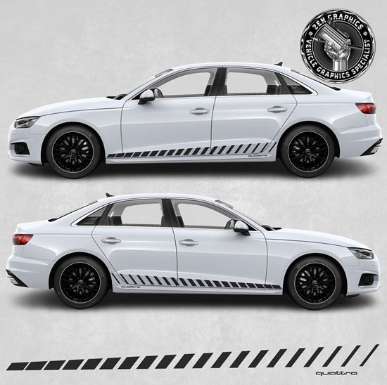 Picture of A4 Quattro side Stripes