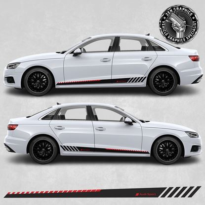 Picture of A4 Audi Sport side Stripes