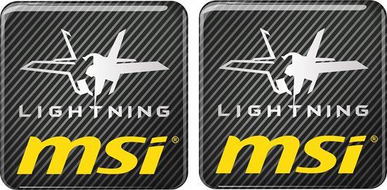 Picture of MSi Lightning Gel Badges