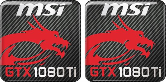Picture of MSi  GTX 1080 Ti Gel Badges