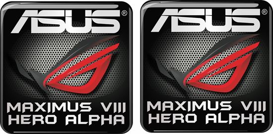 Picture of Asus Maximus VIII Hero Alpha Gel Badges