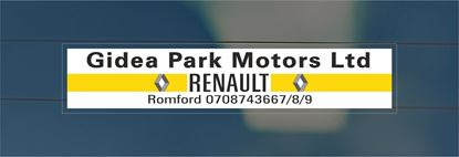 Picture of Gidea Park Motors - Romford Dealer rear Glass Decal / Sticker