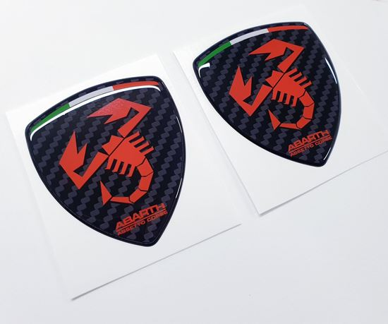 Picture of Fiat Abarth Assetto Corse wing Badges