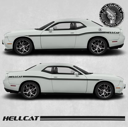 Picture of Dodge Challenger Hellcat side Stripes / Stickers