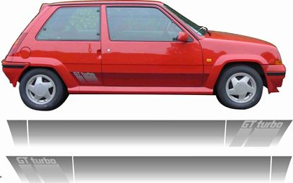 Picture of Renault 5 GT Turbo replacement side Stripes / Stickers