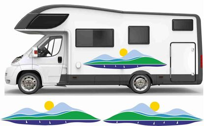 Picture of Sun, Mountains & Sea General panel Decals / Stickers