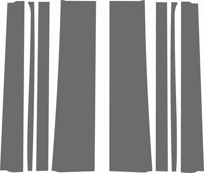 Picture of Vauxhall Nova SR / GTE / GSi B Pillar & Door replacement Matte Grey Vinyl