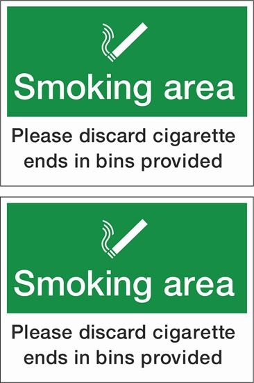 Picture of Smoking Area Decals / Stickers