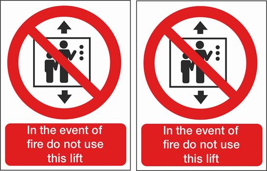 Picture of Fire action Lift Decals / Stickers