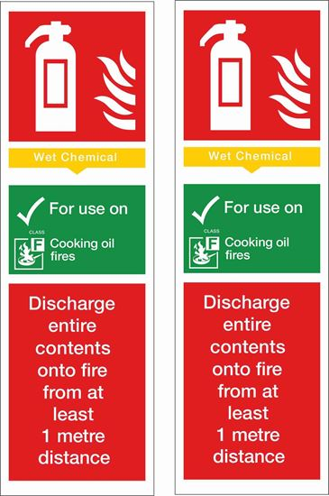 Picture of Fire action Wet Chemical Decals / Stickers
