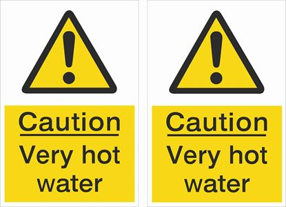 Picture of Caution Very hot water Decals / Stickers