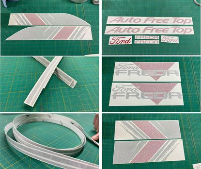 Picture of Ford Freda / Mazda Bongo Graphics Kit Pin Stripes / Decals