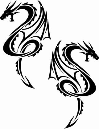 Picture of Dragon Decals / Stickers