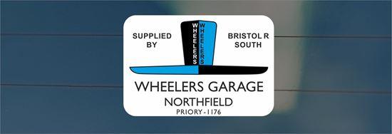 Picture of Wheelers Garage Northfield - Bristol rear glass Sticker