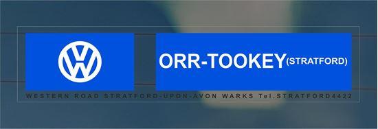 Picture of ORR-Tookey  - Stratford  Dealer rear glass Sticker