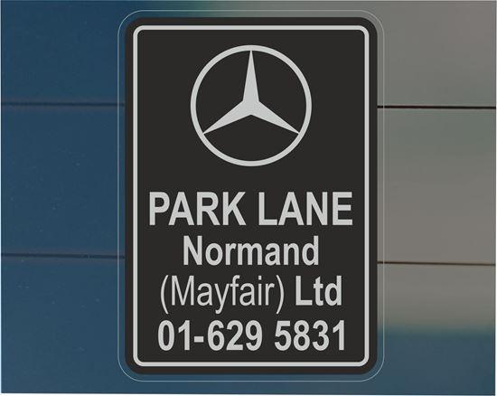 Picture of Park Lane Normand (Mayfair) Ltd Dealer rear glass Sticker