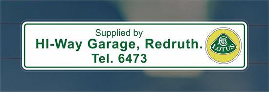 Picture of Hi-Way Garage - Redruth rear glass Dealer Sticker