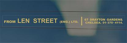 Picture of Len Street (Engineering) Ltd - Chelsea rear glass Dealer Sticker