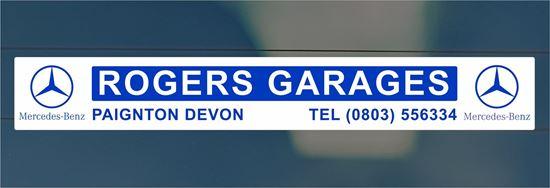 Picture of Rogers Garages  - Devon Dealer rear glass Sticker