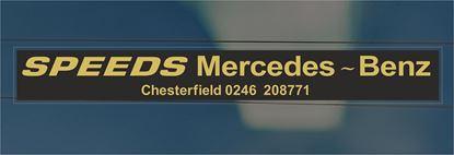 Picture of Speeds Mercedes - Benz - Chesterfield Dealer rear glass Sticker