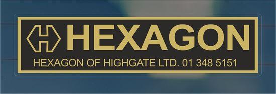 Picture of Hexagon - Highgate Dealer rear glass Sticker