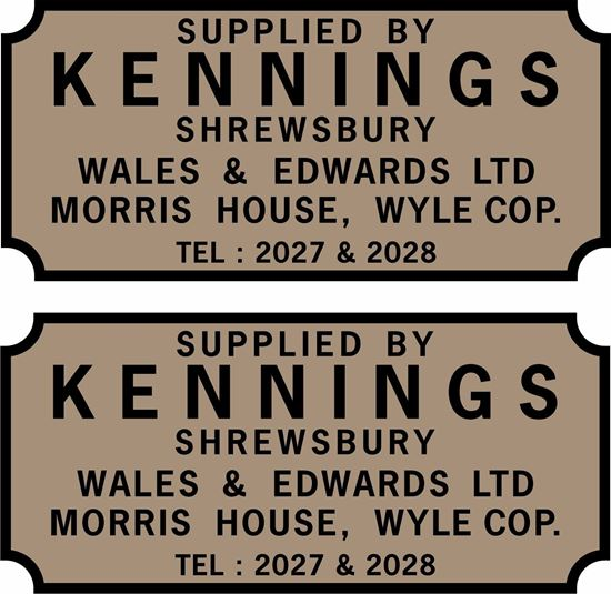 Picture of Kennings Shrewsbury. Wales & Edwards Ltd Dealer Stickers