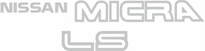 Picture of Nissan Micra K10 LS replacement rear hatch Decals / Stickers