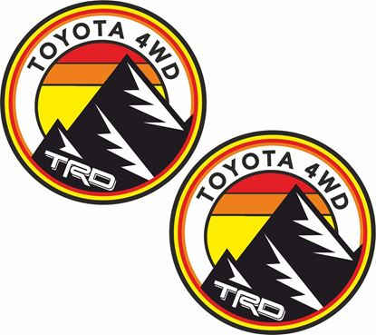 """Picture of """"Toyota 4WD TRD""""  Decals / Stickers"""