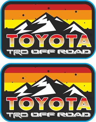 """Picture of """"Toyota TRD Off Road""""  Decals / Stickers"""