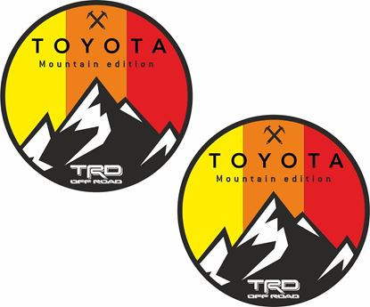 """Picture of """"Toyota Mountain Edition TRD Off  Road""""  Decals / Stickers"""