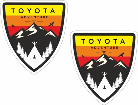 """Picture of """"Toyota Adventure""""  Decals / Stickers"""