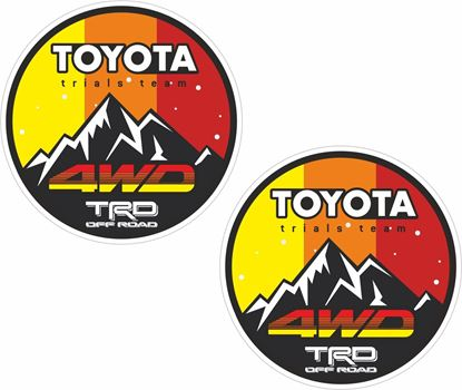 """Picture of """"Toyota Trials Team TRD Off  Road""""  Decals / Stickers"""