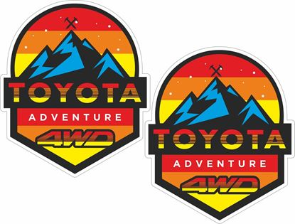 """Picture of """"Toyota Adventure 4WD TRD""""  Decals / Stickers"""