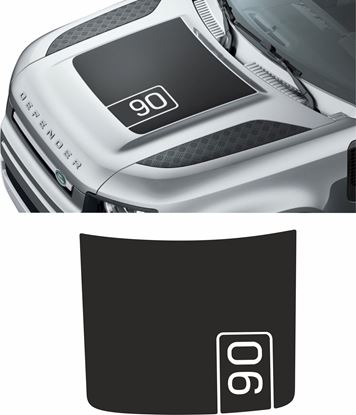 Picture of 2020 Defender 90 Bonnet Decal EXACT FACTORY FIT