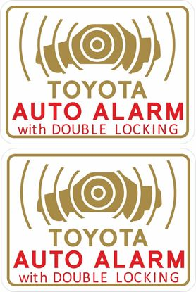 Picture of Toyota Alarm Glass replacement Decals / Stickers
