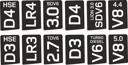 Picture of 2020 Defender 90 / 110 Custom insert to fit Factory Bonnet Decal / Sticker