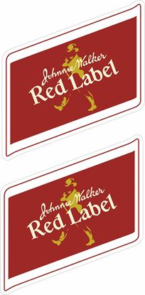 Picture of Jonnie Walker Red Label Decals / Stickers
